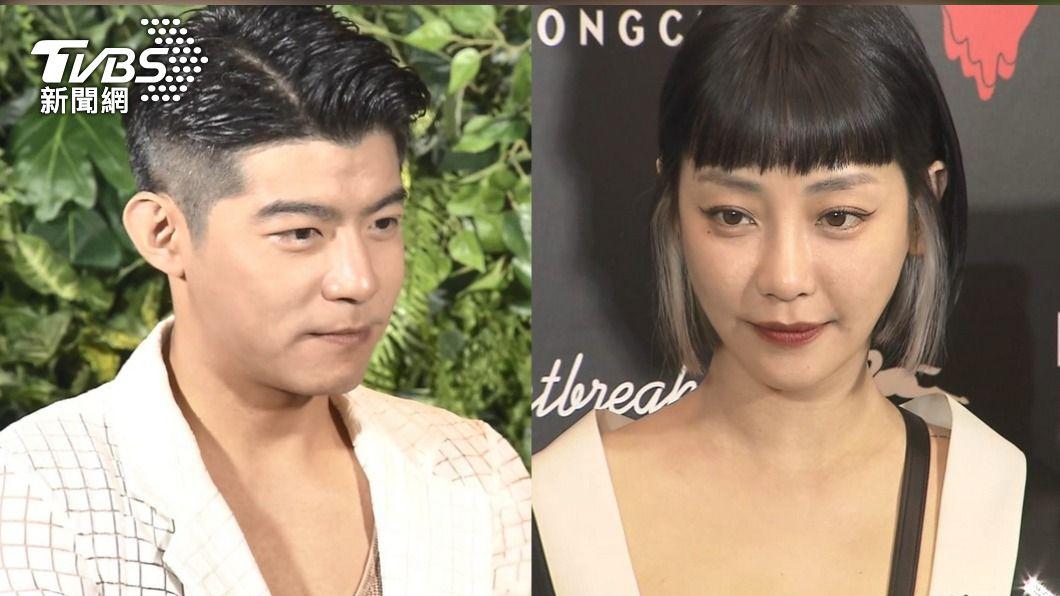 王柏傑與謝欣穎。(圖/TVBS) 認愛2個月爆閃婚? 謝欣穎王柏傑甜喊「夫妻」
