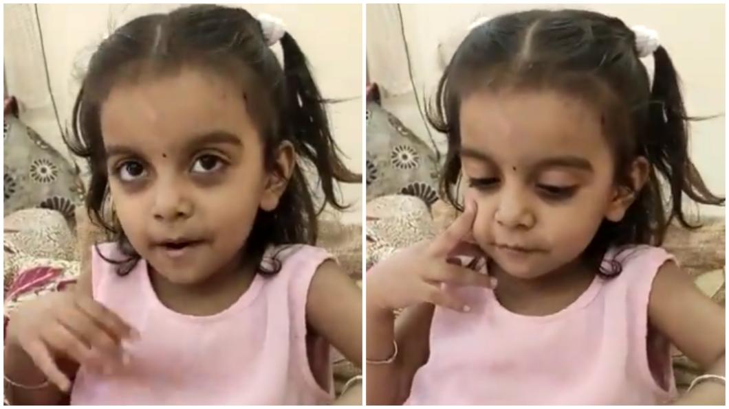 印度一名2歲女童被網友們盛讚為神童(合成圖/翻攝自推特)。 印度2歲神童88秒背出205國首都 網看影片全跪了