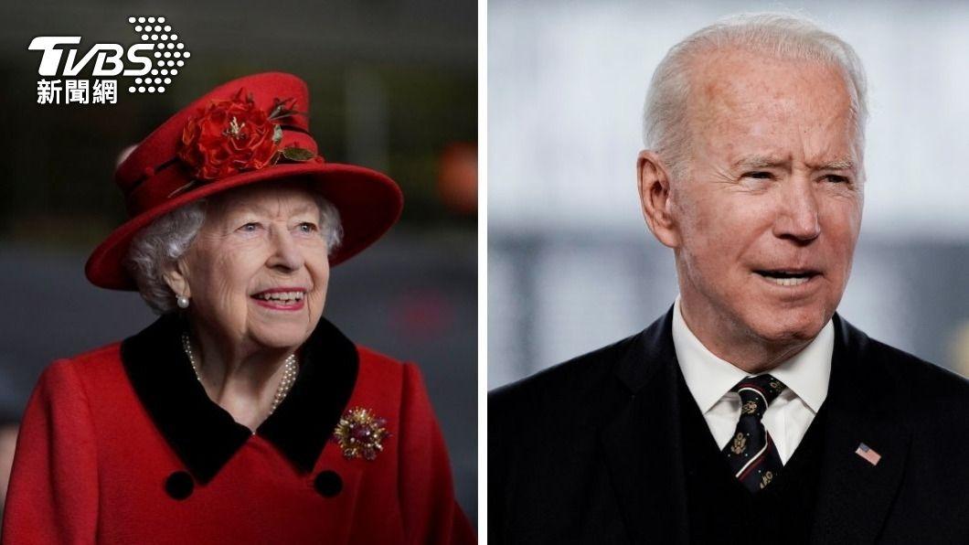 伊麗莎白二世將在13日接見拜登夫婦。(圖/達志影像路透社) 拜登訪英出席G7峰會 英女王13日親自接見