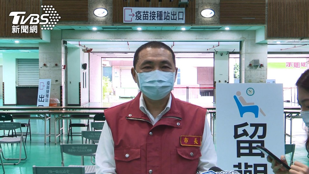 新北市長侯友宜。(圖/TVBS) 新北宣布:長照機構、洗腎患者、75歲以上優先打疫苗