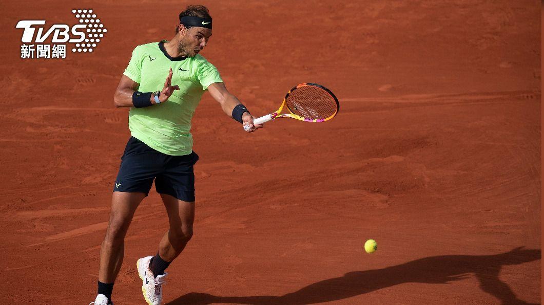 坐擁法國網球公開賽13座金盃的西班牙名將納達爾晉級16強。(圖/達志影像路透社) 紅土之王納達爾望續寫神話 16度晉級法網16強