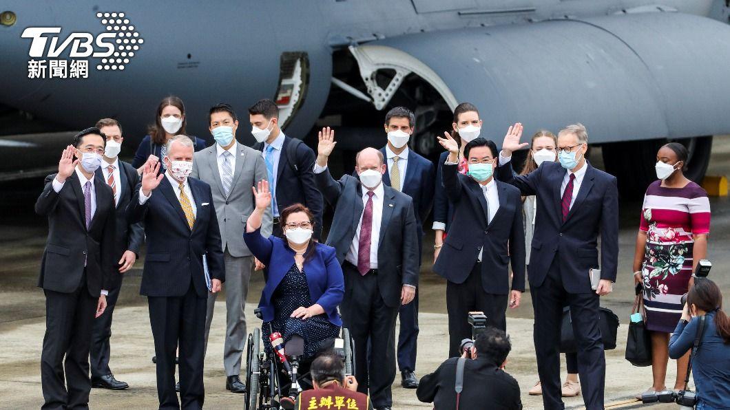 美國聯邦參議員率團快閃台灣。(圖/達志影像路透社) 美參議員訪台前先停南韓 重申廢「飛彈限制」固區域安全