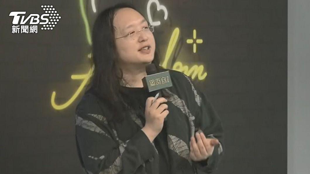 行政院政務委員唐鳳曾被日媒譽為天才IT大臣。(圖/TVBS資料畫面) 換台灣報恩!點名唐鳳當親善大使 名醫:幫日本看這問題