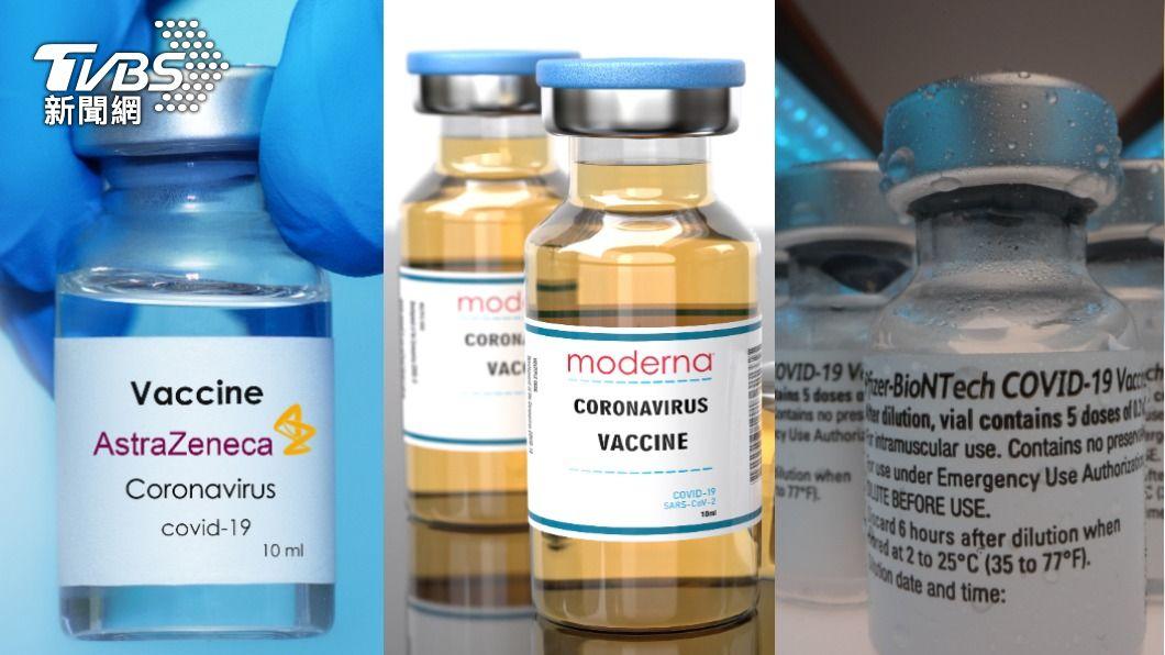 AZ疫苗、莫德納疫苗與輝瑞疫苗。(圖/shutterstock達志影像) AZ、BNT、莫德納疫苗該選哪個? 醫師來解惑