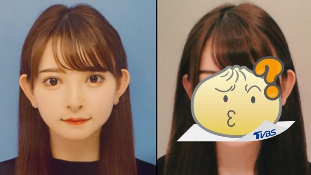 日本模特兒黑崎美紗公布自己整形前、後的模樣。 (圖/翻攝自「黒崎みさ」Twitter) 日正妹4年砸千萬整形 「前後對比照」網看傻:差在哪?