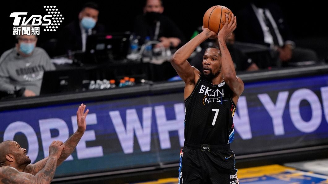 NBA籃網杜蘭特轟32分。(圖/達志影像美聯社) 杜蘭特強攻32分 NBA籃網一路領先捕獲公鹿