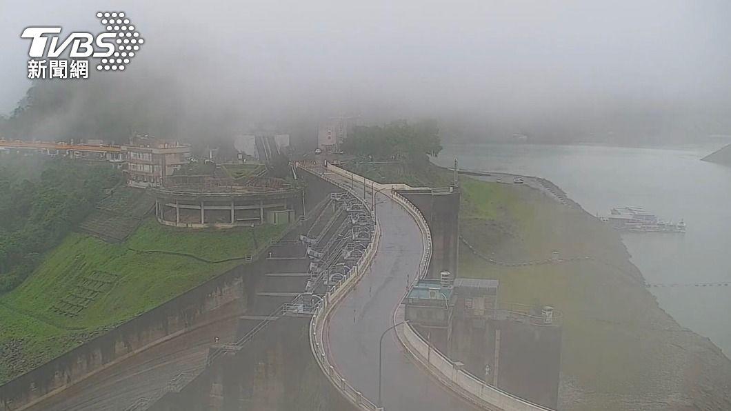 (圖/中央社) 4天降雨進帳1820萬噸 石門水庫蓄水率站上3成大關