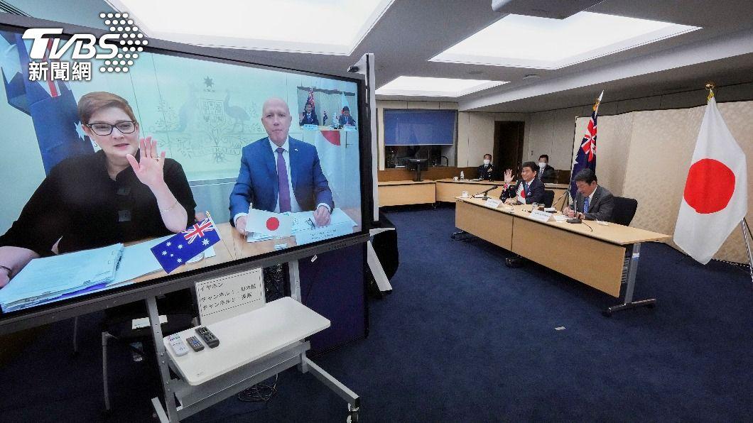 日本與澳洲政府舉行2加2會談。(圖/達志影像路透社) 日澳2加2會談聲明 首度載明台海和平穩定重要性