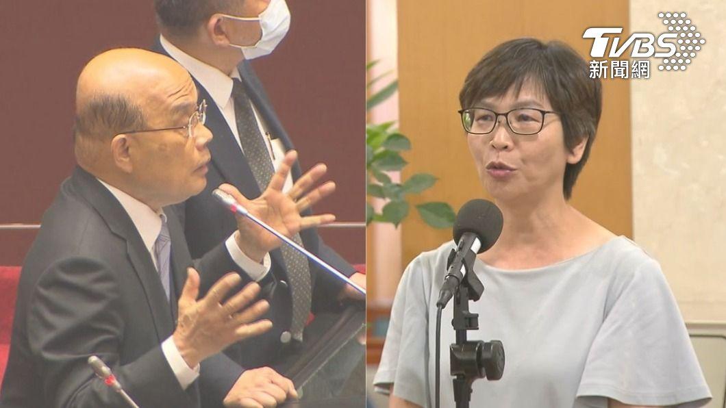 蔡壁如認為蘇貞昌要人民收心的言詞不妥。(圖/TVBS資料畫面) 蔡壁如斥「有政府會病逝」 蘇貞昌:妳這樣解釋不好