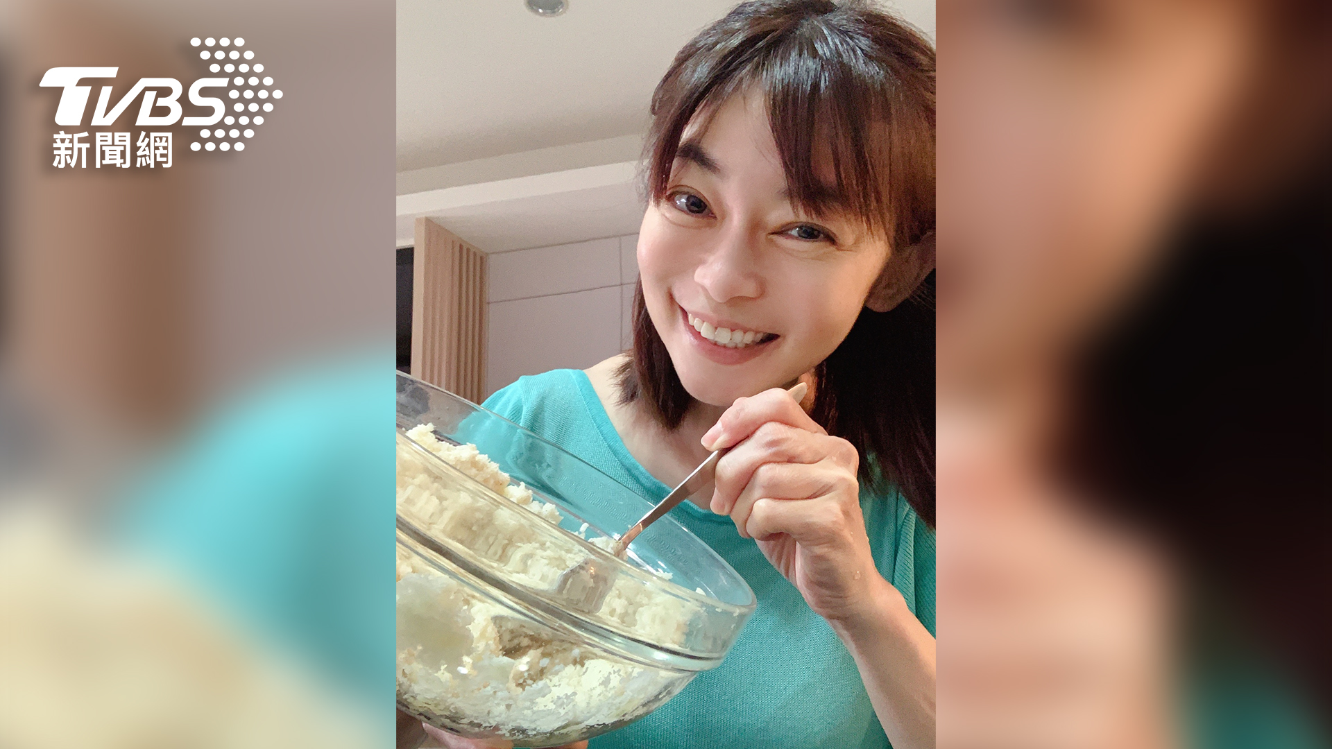 《健康2.0》主持人鄭凱云,趁著宅在家期間,每周帶著兒子安安挑戰親子料理。(圖/TVBS提供) TVBS號召「#宅在家就好」為醫護加油  藝人、專家串聯響應 宅在家私生活大曝光