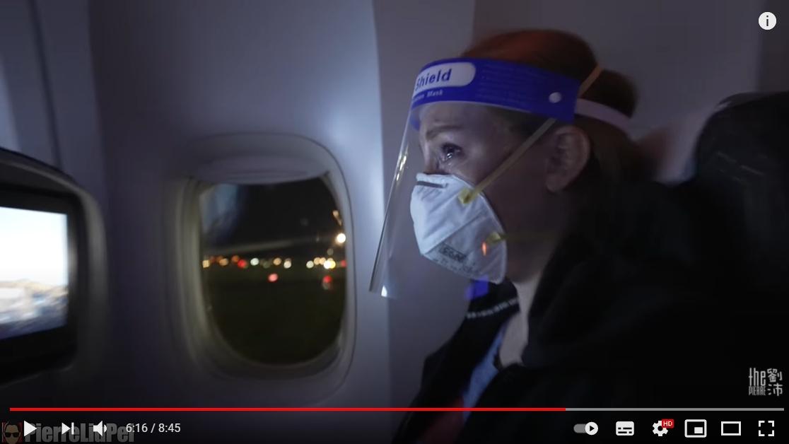 美根在飛機起飛後潰堤。(圖/翻攝自「the劉沛」YouTube)
