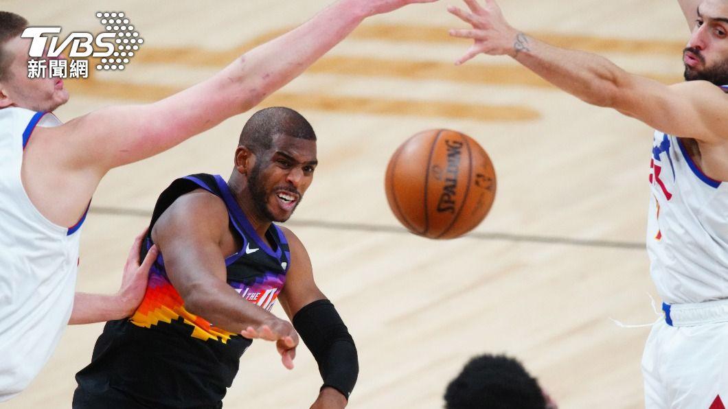 (圖/達志影像路透社) 保羅組織漂亮火網 NBA太陽烤融金塊2連勝