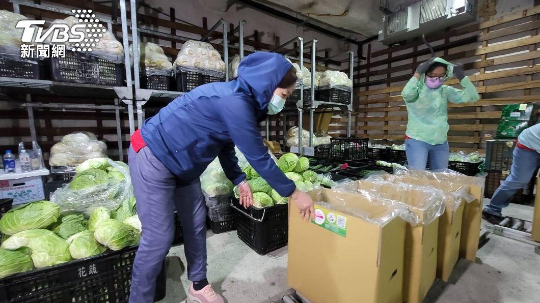 (圖/中央社) 花蓮在地農會推蔬菜箱宅配 外縣市訂購占9成