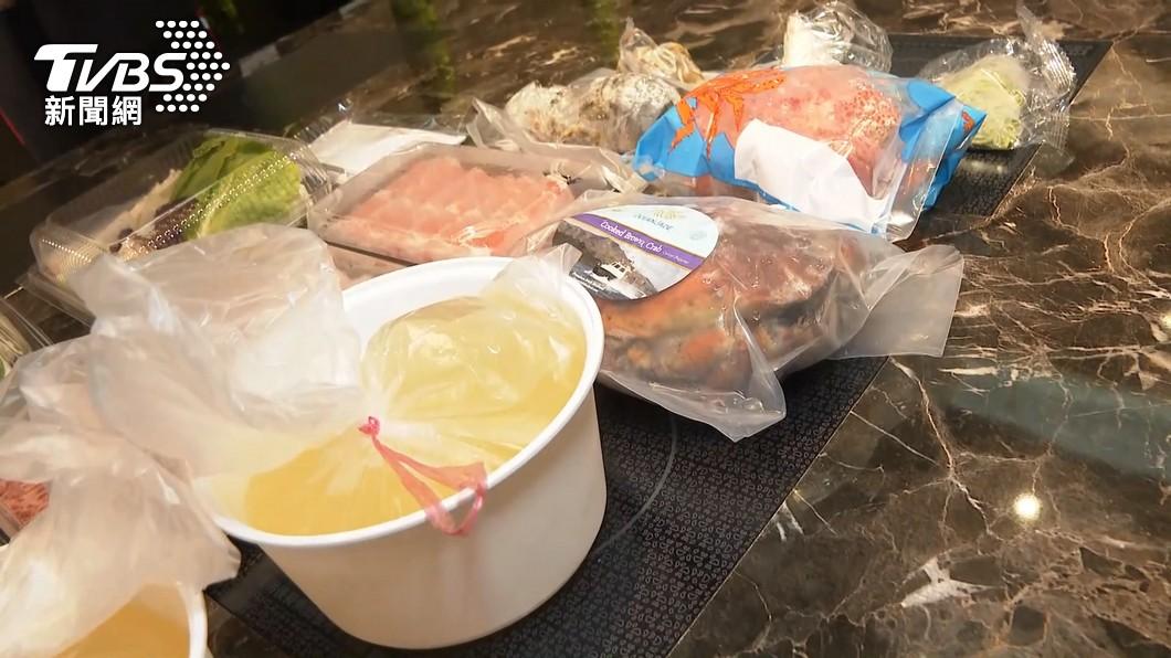 圖/TVBS 外帶拚了!鍋物店推 龍蝦和牛雪蟹海陸鍋