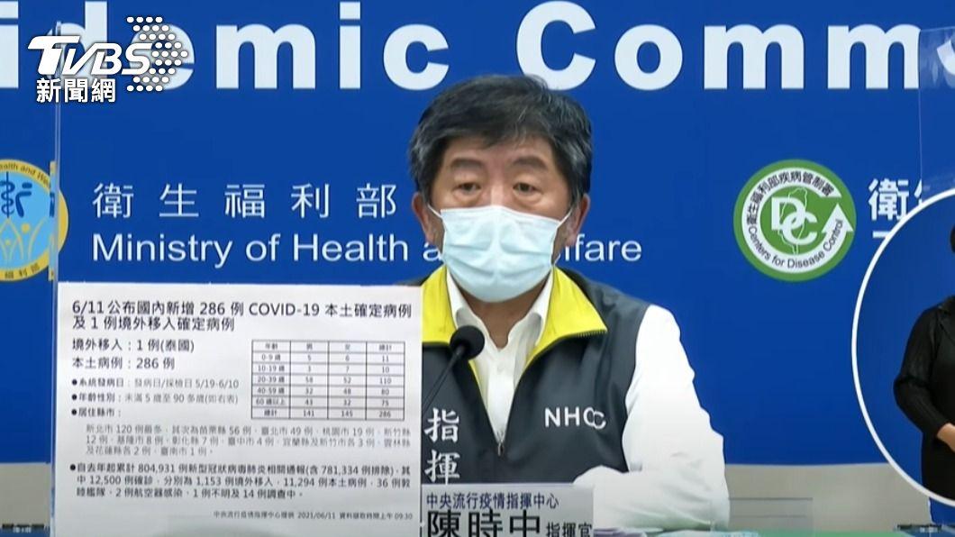 指揮中心指揮官陳時中。(圖/TVBS) 6.2萬台灣人打過大陸疫苗? 陳時中:入境仍要隔離