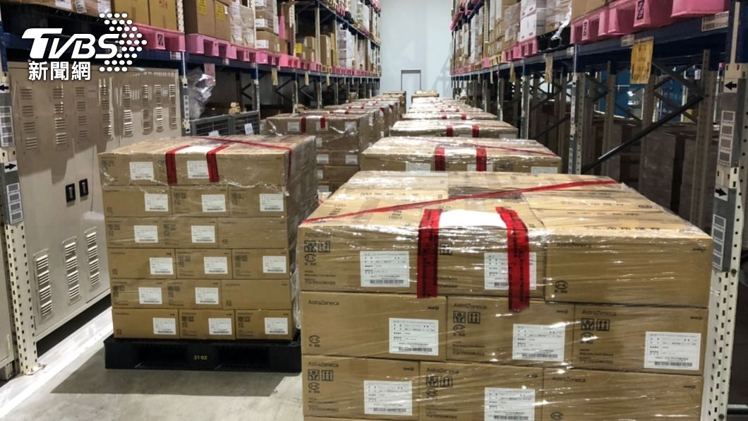 日本捐贈台灣AZ疫苗。(圖/中央社) 日本捐贈AZ疫苗封緘放行 12日起配送、15日施打
