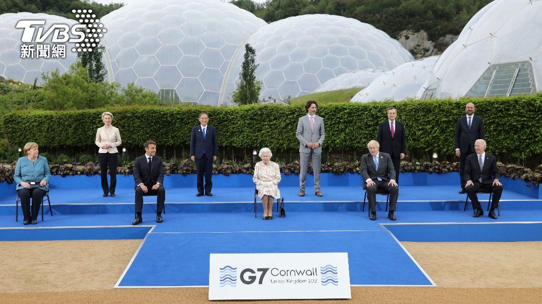 英國女王接見與G7各國領導人。(圖/達志影像美聯社) 英女王會拜登 過往這些美國總統軼聞一堆