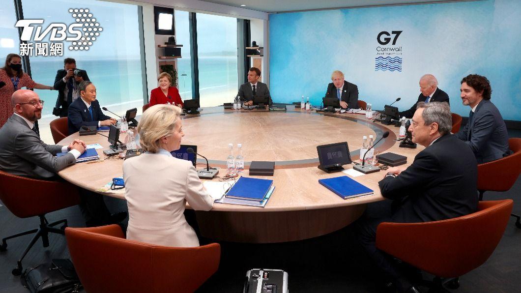 G7領袖峰會針對大陸議題進行討論。(圖/達志影像美聯社) 拜登G7峰會提案助發展中國家 制中「一帶一路」計畫