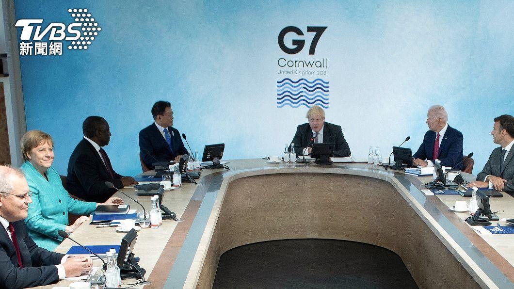 七大工業國(G7)領導人峰會在13日正式落幕。(圖/達志影像路透社) G7公報首見「台海」 籲中方尊重人權還港「高度自治」