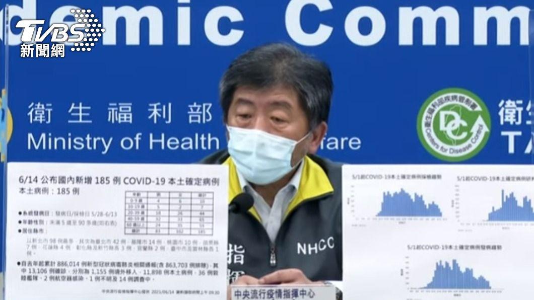 指揮官陳時中。(圖/TVBS) 本土疫情延燒1個月趨平穩 陳時中:5成解隔離