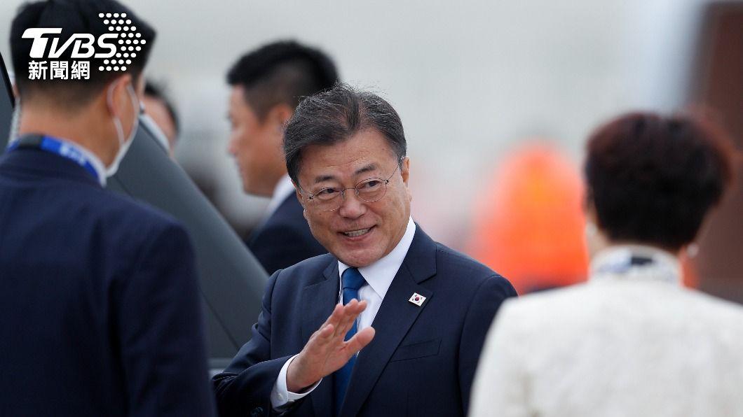 韓國總統文在寅。(圖/達志影像路透社) G7宣言牽制中國 韓方:文在寅參與會議未提及