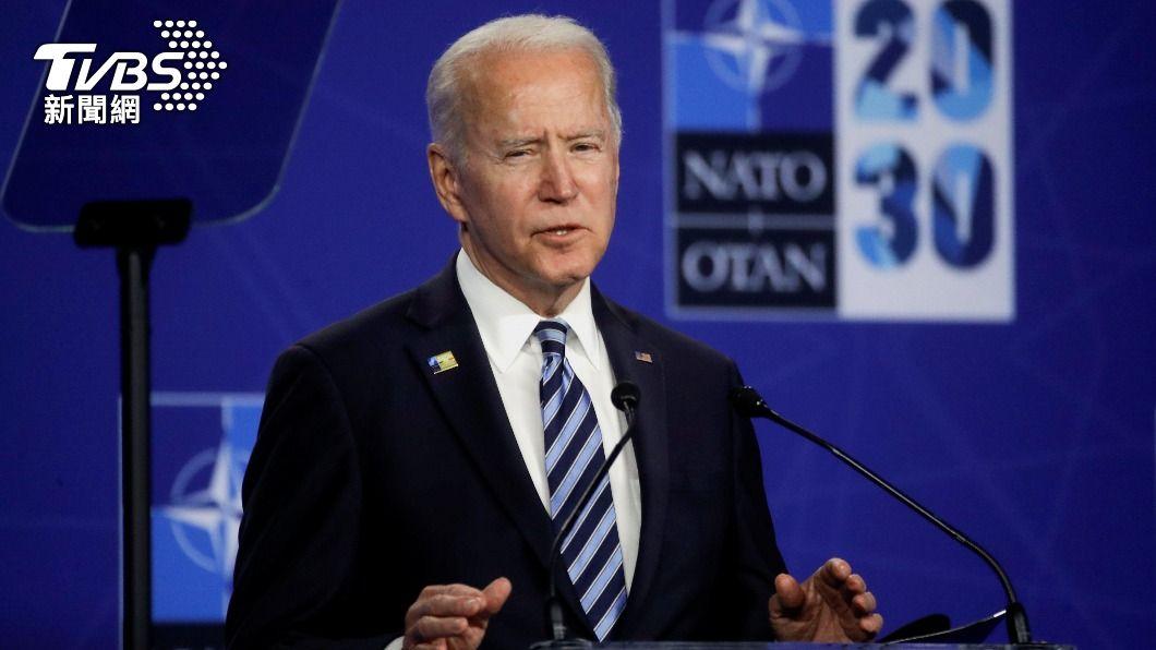 拜登在北大西洋公約組織峰會後表示,將強化與印太夥伴合作。(圖/達志影像路透社) 因應大陸挑戰 拜登:北約將強化與印太夥伴合作