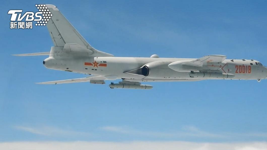 陸解放軍昨出動破紀錄的28架次軍機擾台。(圖/TVBS) 陸大量軍機擾台 五角大廈:破壞區域和平、增加誤判風險