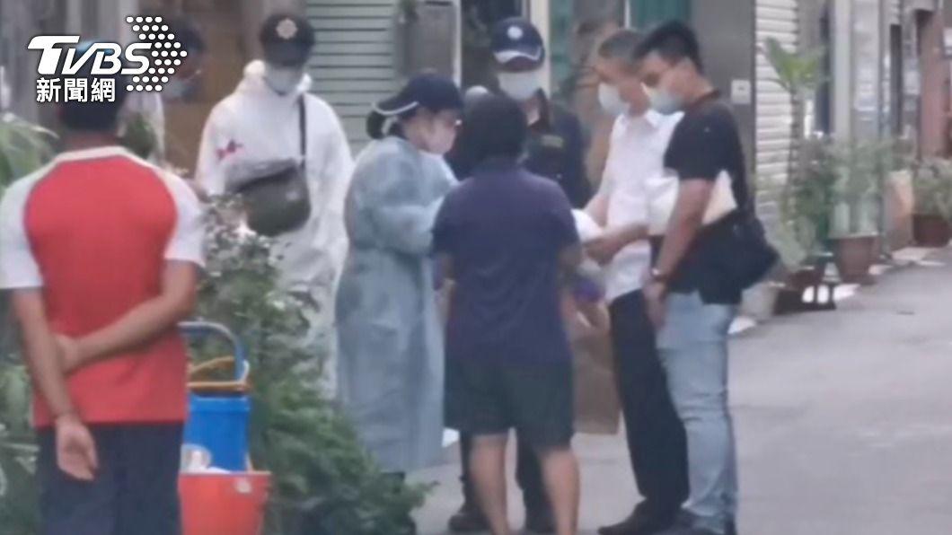 嘉義縣水上鄉今天下午發生槍擊案,警方到現場調查。(圖/TVBS) 嘉義縣役男槍殺前女友 疑似求復合不成