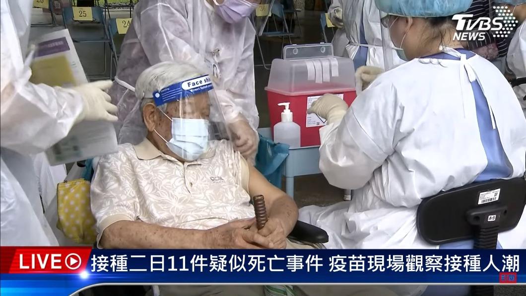 從6月15日開始大規模施打AZ疫苗。(圖/TVBS) 長者接種AZ疫苗3天12猝死 專家:不澄清恐釀緩打潮