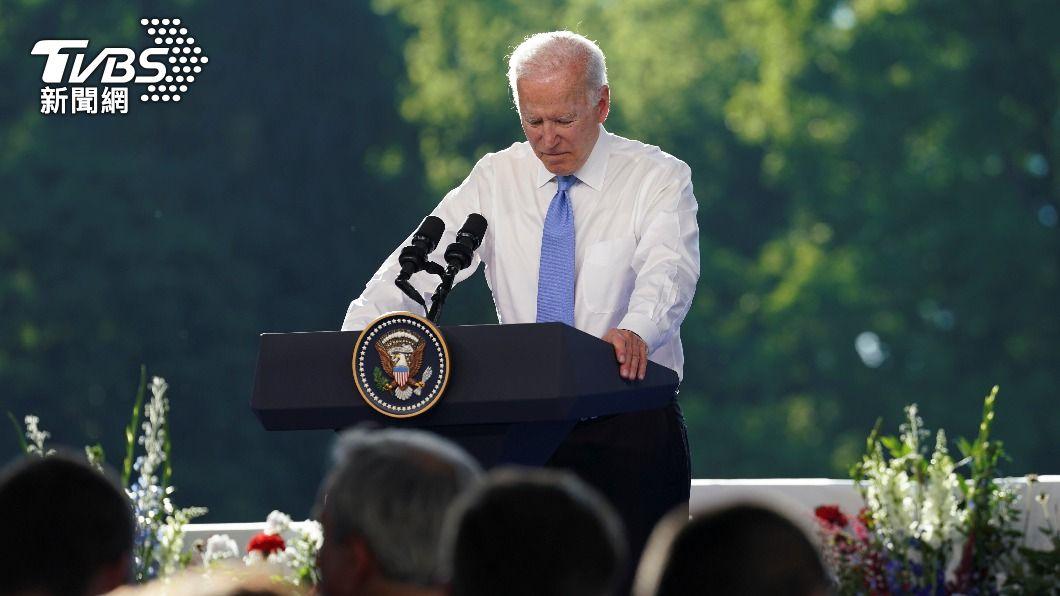美國總統拜登。(圖/達志影像路透社) 被問美俄峰會建設性何在 拜登怒答記者後又道歉
