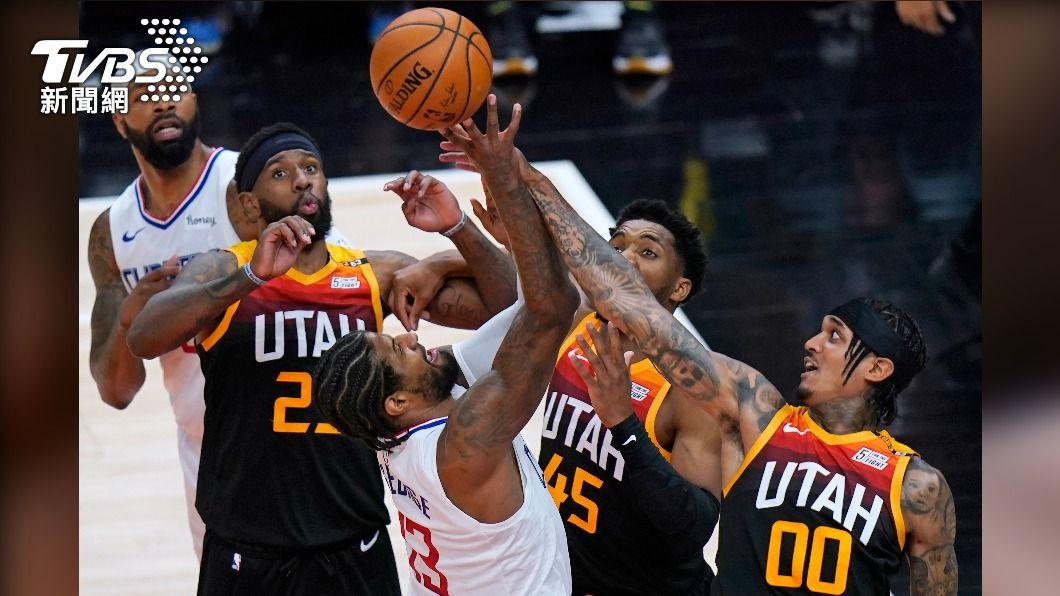 (圖/達志影像美聯社) 雷納德缺陣喬治挺身而出 NBA快艇逆轉爵士聽牌