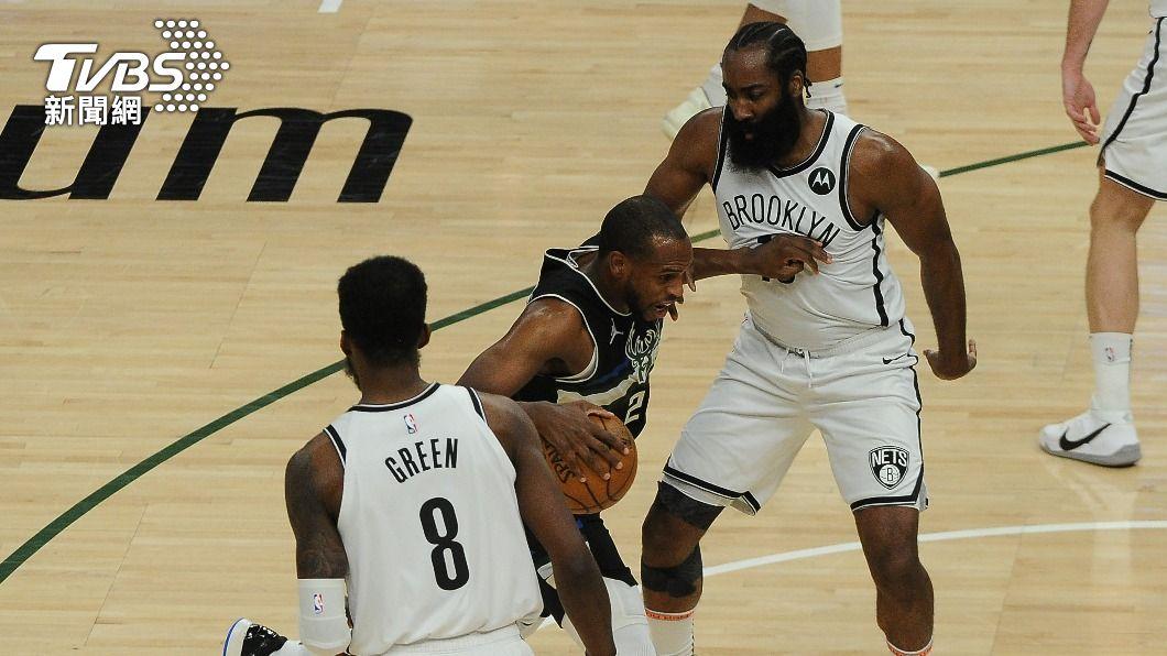 NBA公鹿密道頓轟下全場最高38分。(圖/達志影像路透社) 密道頓38分轟破籃網 公鹿逼出系列賽第7戰