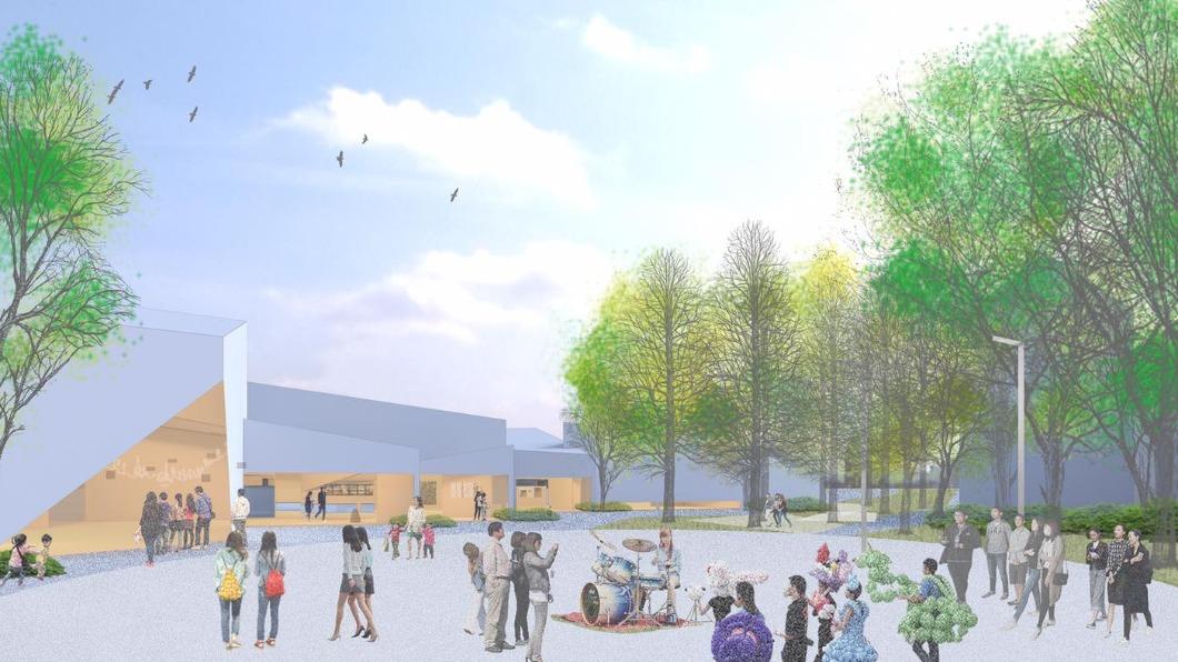 陳其邁今(19)日宣布將在美術館園區西側設立新館內惟藝術中心。(圖/翻攝自高雄市立美術館臉書) 「內惟藝術中心」拍板定案 望帶動舊街區都更契機