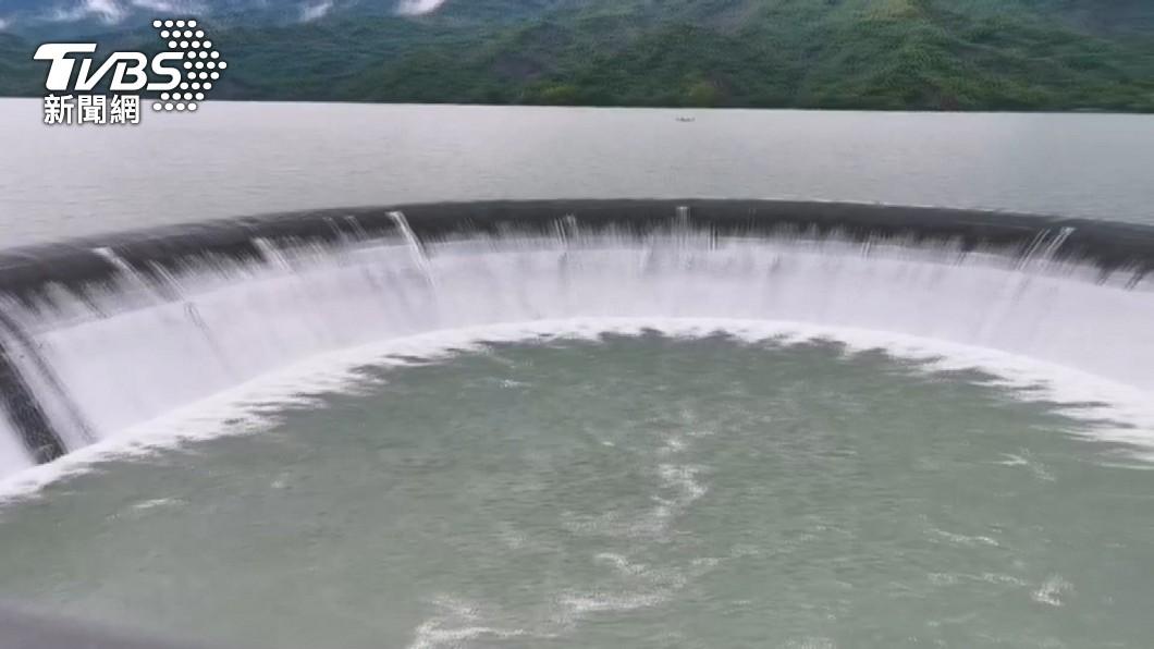 圖/TVBS 蓄水量超車翡翠水庫! 曾文水庫重回冠軍寶座
