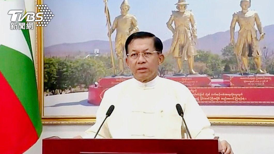 緬甸軍政府領導人敏昂萊。(圖/達志影像美聯社) 緬甸軍政府領導人抵莫斯科 出席國際安全會議