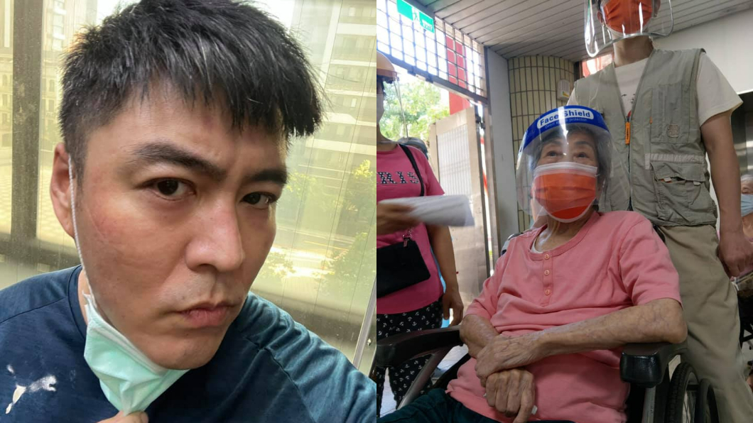 劉至翰奶奶102歲,接種AZ疫苗後身體狀況曝光。(圖/翻攝自劉至翰臉書) 「102歲人瑞奶奶」打AZ疫苗 劉至翰曝身體狀況