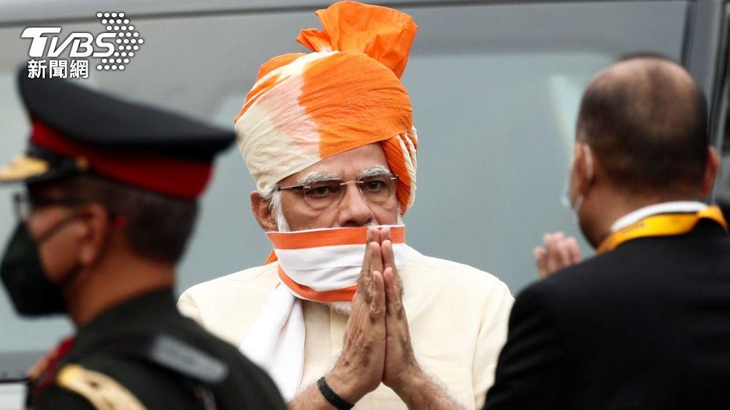 印度總理納倫德拉·莫迪(Narendra Damodardas Modi)。(圖/達志影像路透社) 單日接種逾八百萬劑 印度總理自豪施打速度破全球紀錄