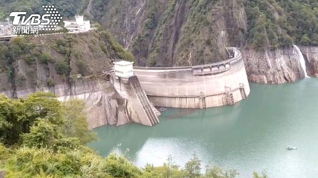 德基水庫水位持續上升。(圖/中央社) 德基水庫蓄水率29% 水位持續上升拚達夏季規線