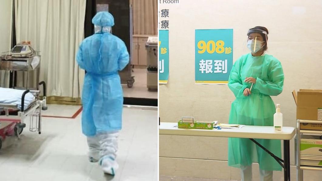 疫情期間醫護人員在第一線搶救病患。(圖/翻攝自田知學臉書、TVBS) 男呼吸衰竭不願急救「妻跪地哭求」 醫:死神吻我額頭