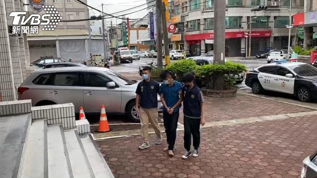 警方循線逮到偷車的簡姓男子。(圖/TVBS) 水產業者下車沒拔鑰匙 30萬現金連同百萬轎車遭竊