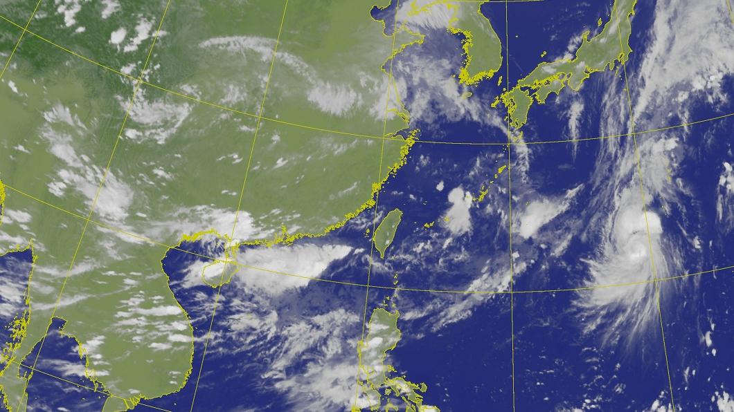 今年第五號颱風「薔琵」轉為中颱。(圖/中央氣象局網站) 第5號颱風「薔琵」增強轉中颱 最新路徑曝光