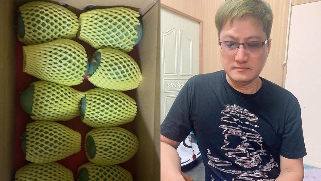 受疫情影響,楊哲芒果生意也受到影響。(圖/翻攝自楊哲臉書) Delta病毒侵台!芒果王子「單日遭退訂30箱」苦嘆