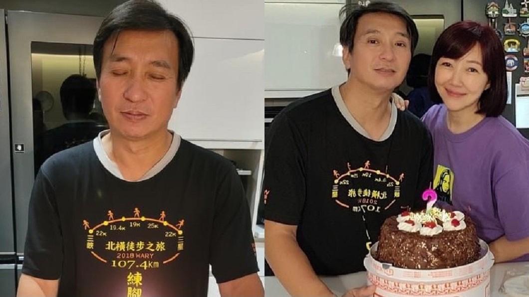 王中平喜迎54歲生日,老婆余皓然提前2天已為他慶祝。(圖/翻攝自余皓然臉書) 喜迎54歲生日!王中平竟對女星「喊我愛妳」正宮回應了