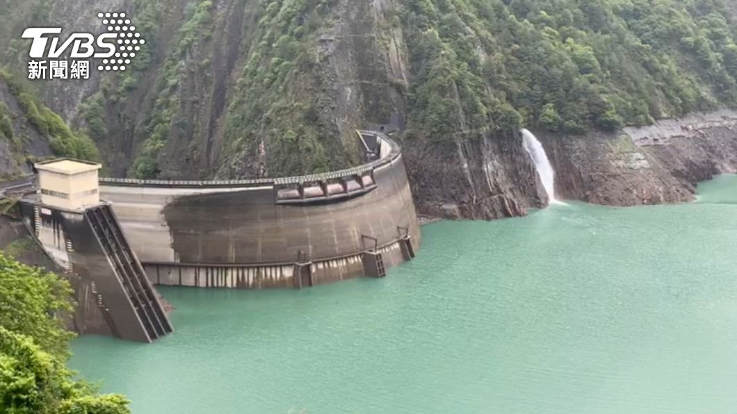 德基水庫水位達1366公尺。(圖/中央社) 德基水庫達夏季水位規線 有望支援發電