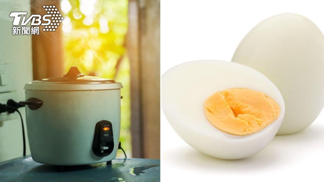 一名女網友用電鍋蒸水煮蛋,發生鍋蓋打不開的情況,引來討論。(示意圖/shutterstock達志影像) 電鍋蒸水煮蛋「蓋子吸住」 達人教神招輕鬆開蓋