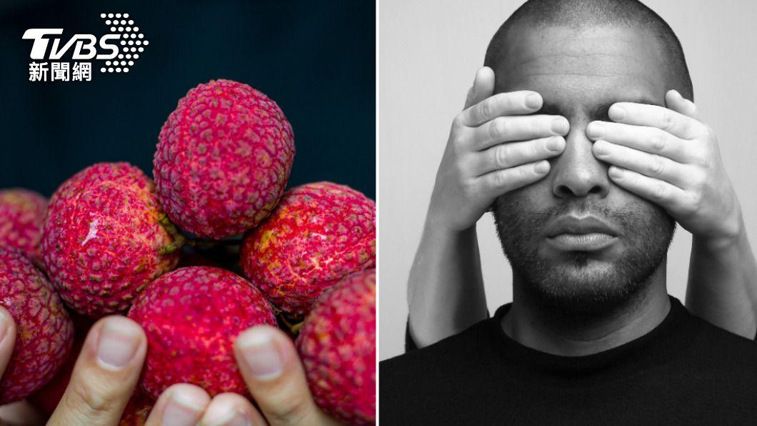 荔枝含有較高的含糖量,短時間攝取過多恐導致雙眼失明。(示意圖/shutterstock達志影像) 陸男吃荔枝險失明 營養師曝「一天攝取量」關鍵數字