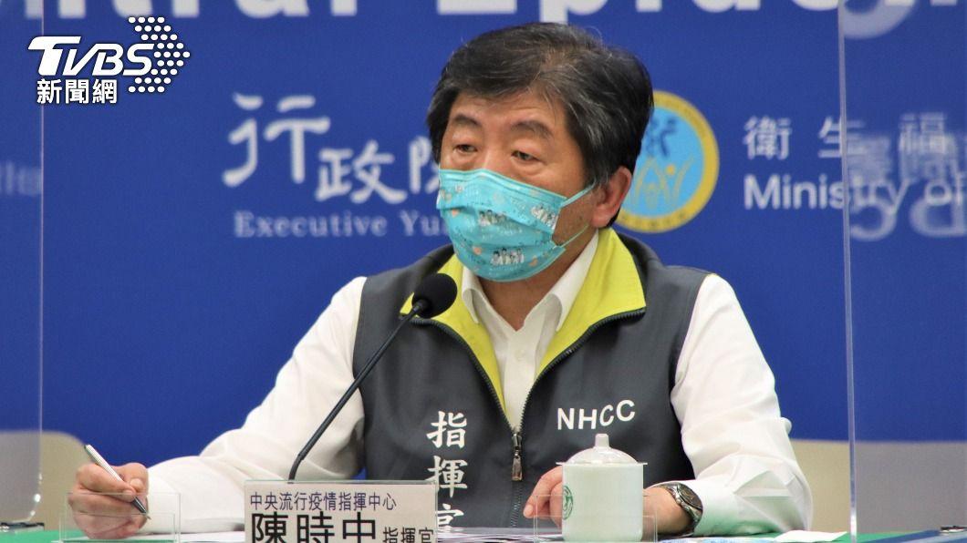 中央流行疫情指揮中心指揮官陳時中。(圖/TVBS) 傳首批客製化BNT疫苗22日抵台 陳時中下午說明