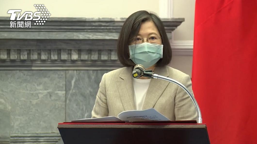 總統蔡英文。(圖/TVBS) 憂極端氣候強降雨致災 蔡英文提醒民眾警戒防颱