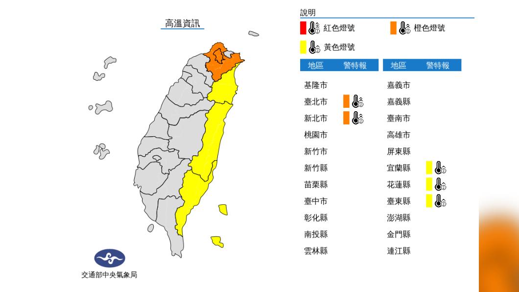 圖/中央氣象局 今高溫悶熱飆36度防中暑 「颱風最快下周生成」