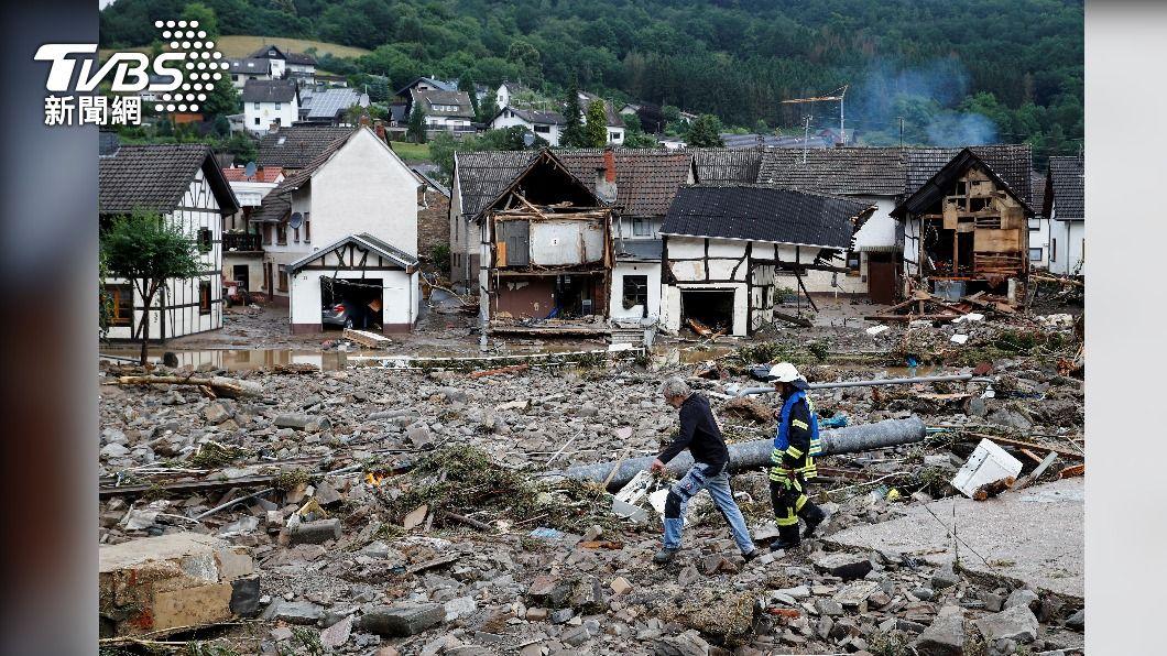 圖/達志影像路透社 西歐暴雨成災 德國與比利時累計157死